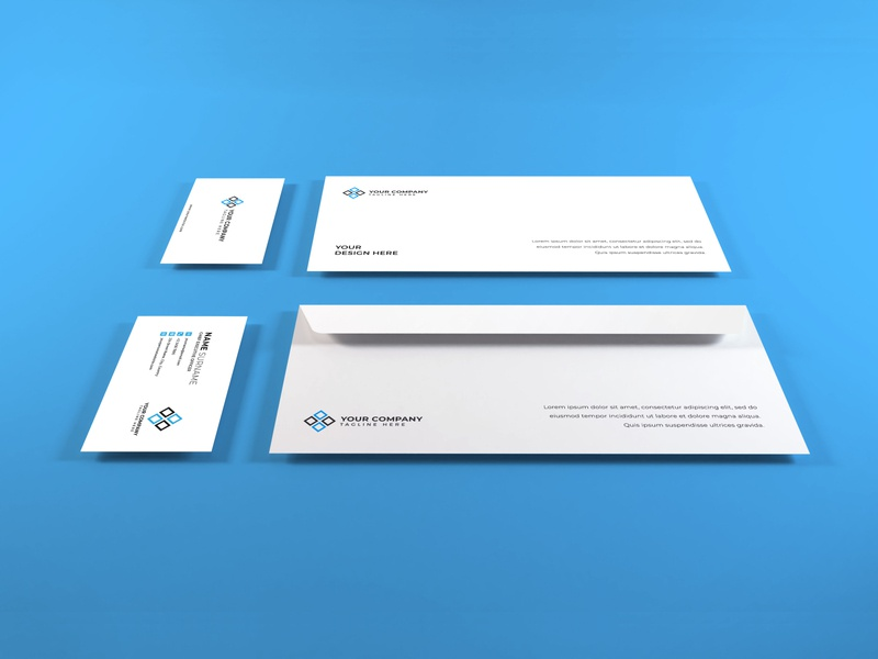 Download Stationery Set Vol 8 business card photoshop mockups branding identity psd paper 3d presentation stationery envelope corporate card mockup identity company business template