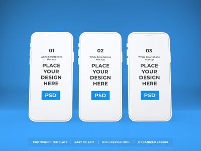 Download White iPhone Mockup Vol 10 (Freebie) 3d iphone gadget touchscreen display apple ios blank mockup device screen mobile technology smartphone