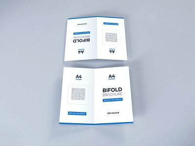 Download Bifold Brochure Vol 19 (Freebie) a5 a4 stationery psd booklets photoshop mock up paper print poster template modern graphic business mockup flyer brochure bifold realistic