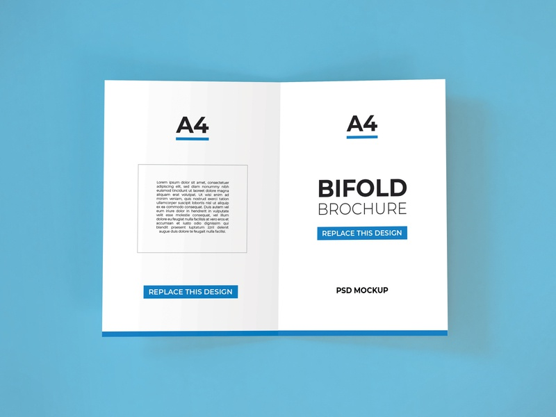 Download Bifold Brochure Mockup Vol 10 a5 a4 stationery psd booklets photoshop mock up paper print poster template modern graphic business mockup flyer brochure bifold realistic