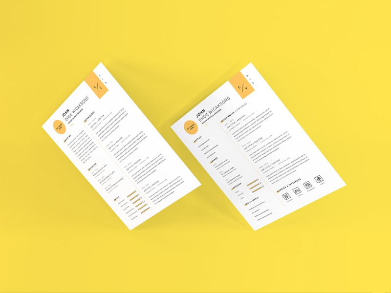 Download Curriculum Vitae Mockup Vol 10 (Freebie) profile cover professional letter document paper layout corporate application company infographic business template vitae resume curriculum mockup cv