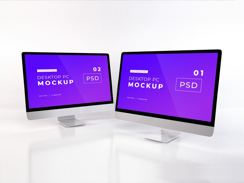 Download iMac Mockup Vol 10 (Freebie) mac apple macbook device web desktop modern pc blank design monitor template technology display website mockup screen imac scene creator computer