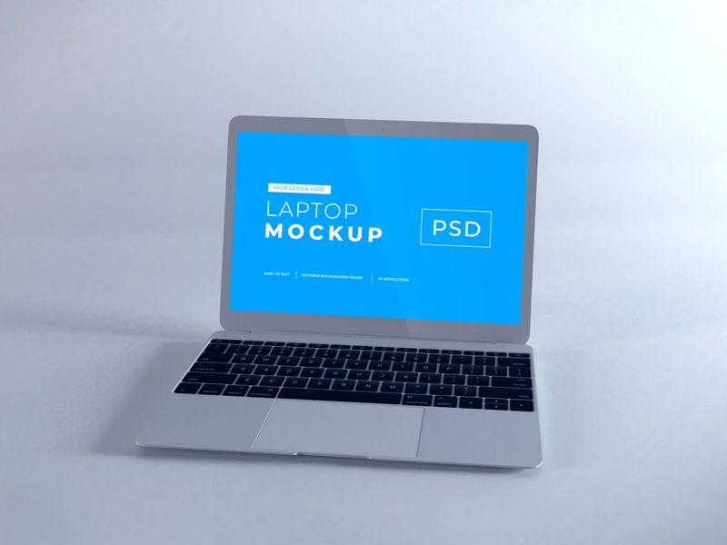 Download MacBook Air Vol 10 (Freebie) macos mac apple macbook device notebook template technology display mockup screen laptop scene creator computer