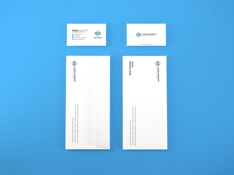 Download Stationery Set Mockup Vol 9 business card photoshop mockups branding identity psd paper 3d presentation stationery envelope corporate card mockup identity company business template