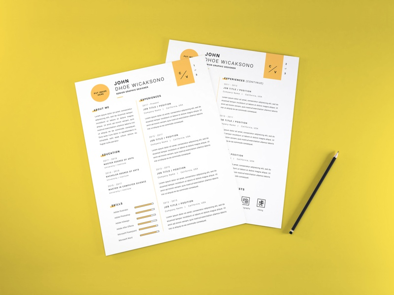 Download Curriculum Vitae Mockup Vol 11 profile cover professional letter document paper layout corporate application company infographic business template vitae resume curriculum mockup cv