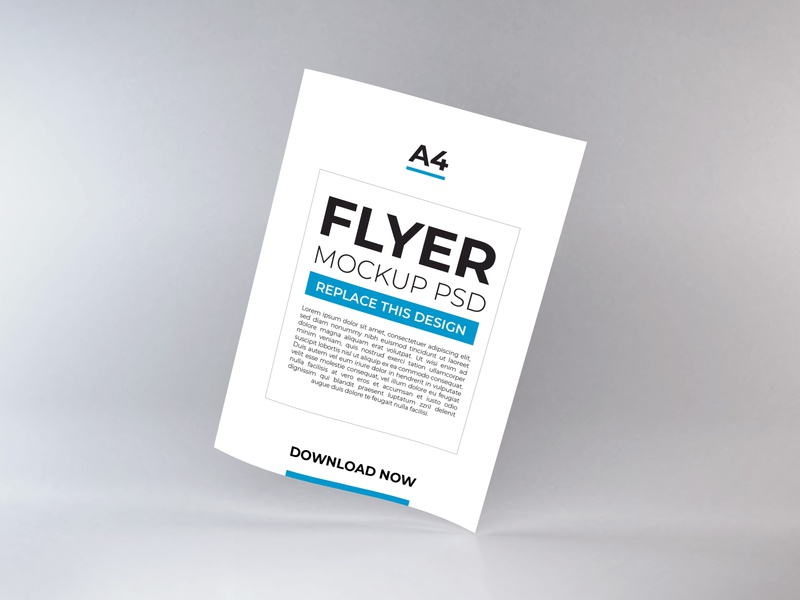 Download Flyer Mockup Vol 11 a5 stationery psd booklets paper print cover poster template mockup layout corporate design white flyer brochure a4
