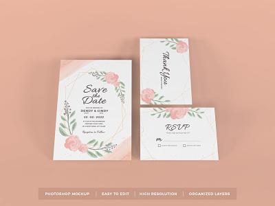 Download Wedding Invitation Mockup Vol 11 wedding template premium photoshop mockup