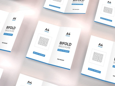 Download Bifold Brochure Mockup Vol 12 template premium photoshop mockup brochure bifold