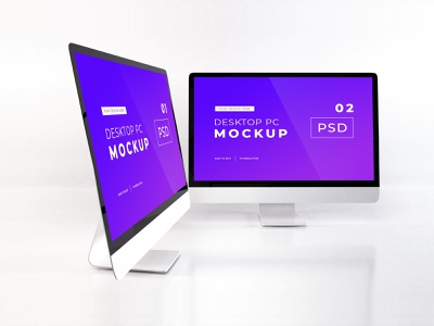 Download iMac Mockup Vol 12 template premium photoshop mockup
