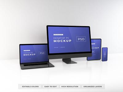 Download Responsive Devices Mockup Vol 12 template premium photoshop mockup