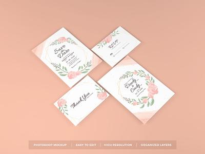 Download Wedding Invitation Mockup Vol 12 wedding template premium photoshop mockup