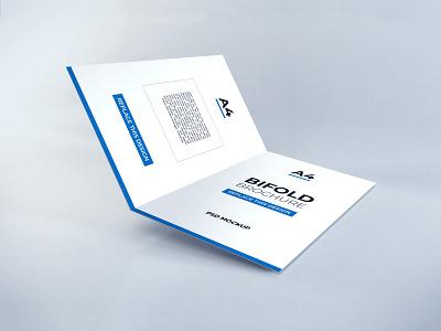 Download Bifold Brochure Vol 13 paper template premium photoshop mockup brochure bifold