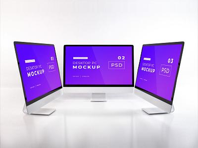 Download iMac Mockup Vol 13 template premium photoshop mockup