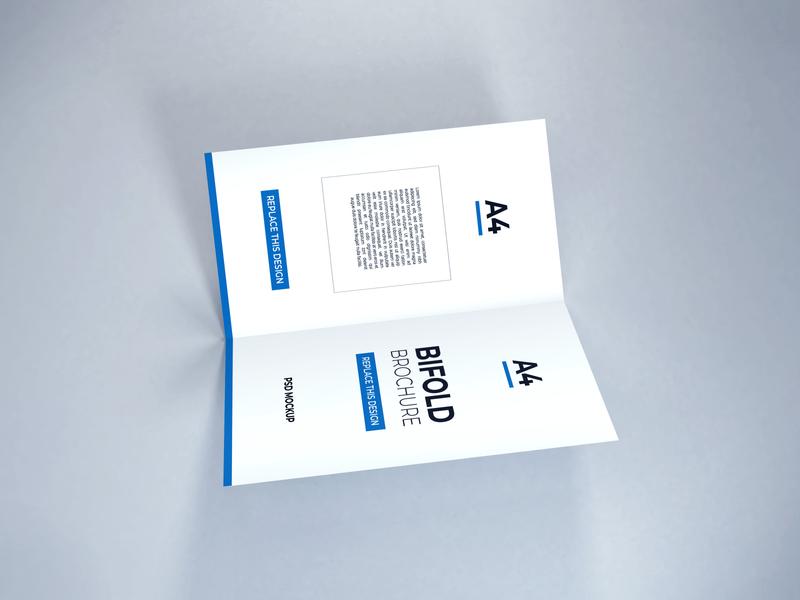 Download Bifold Brochure Mockup Vol 14 3d design paper template premium photoshop mockup brochure bifold