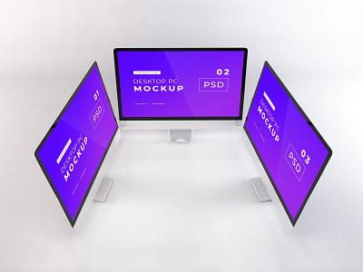 Download iMac Mockup Vol 14 gadget screen device technology apple 3d template premium photoshop mockup
