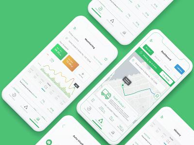 Trash Pick Up Mobile App Design mockup mobiel app app trash mobile ux ui