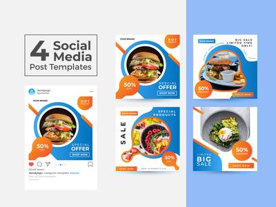 Social Media Post Design Templates Vol 9