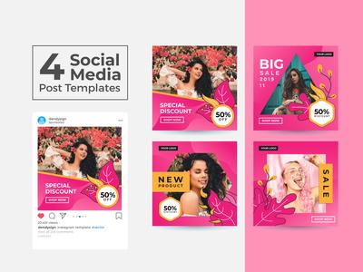 Social Media Post Design Templates Vol 25