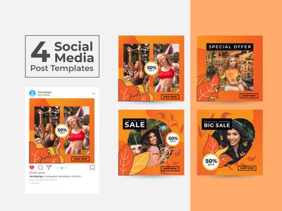 Social Media Post Design Templates Vol 26