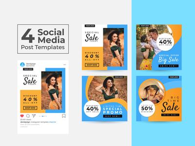 Social Media Post Design Templates Vol 27
