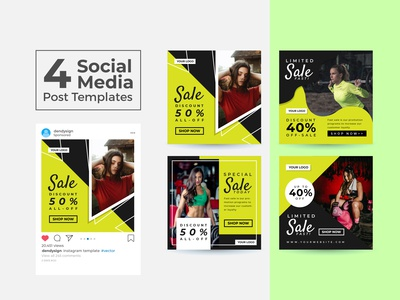 Social Media Post Design Templates Vol 28