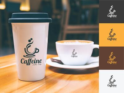 Coffee Shop Logo Design Concept brand cafe drink beverage mockup illustrator branding vector design logos coffee logo design logo