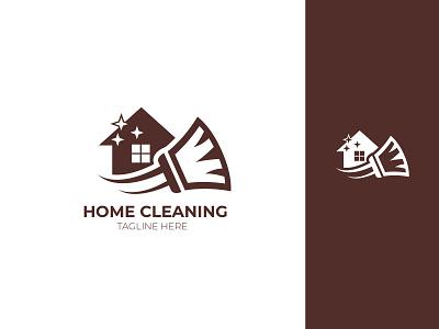 Home Cleaning Logo Design business branding design brand identity home brand vector icon branding design logo