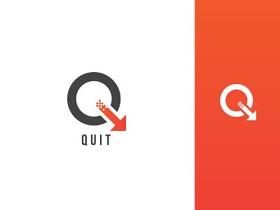 Quit Logo Design Concept web concept illustrator quiz quit branding icon design vector logo