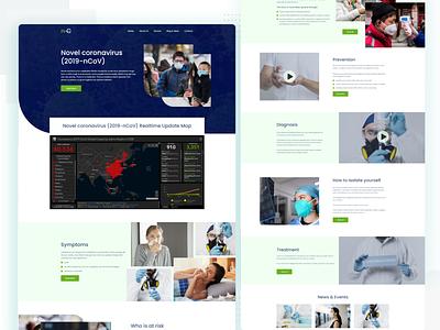 Novel corona virus lading page design medicine medical coronavirus typography animation logo agency website type branding ui ux web landingpage uiux