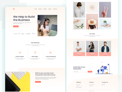 Business agency landing page pst template business type agency agency website typography design landingpage ux ui web
