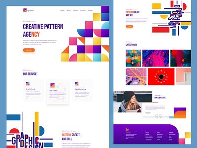 Digital Pattern Agency Website agency website landingpage branding app website agency typography design ui ux web