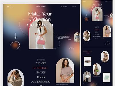 E- Commerce Landing Page Design home page shopify landing page shopify store ux web design fashion graphic design ui logo ecommerce landing page ecommerce web website agency design