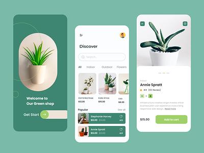 Plants Shop Mobile App design app design home page ux ui plant ecommecre plant app plans app plants app ecommerce mobile ecommerce ecommerce mobil app app