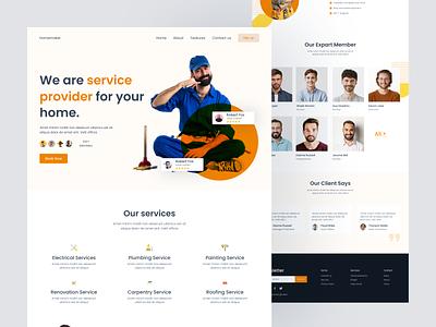 Service provider landing page service web service provider website service provider landing page service provider service web ux ui typography website design agency