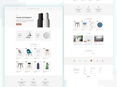 Ceramic Store Landing page store landing page creative agency product product page landing page agency website design website app web logo branding vector typography ux ui