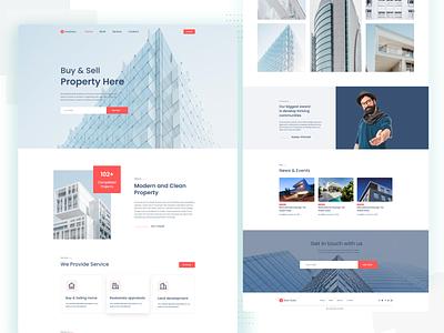 Real estate landing page app ui typography design branding ux web agency agency website website webdesign uiux landingpage real estate