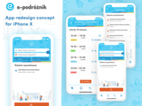 Redesign e-podróżnik.pl for iPhone X App