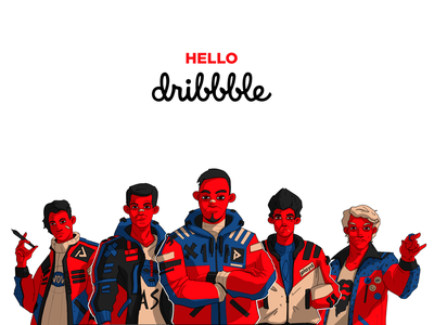 Hello, Dribbble! motion design hello debut collaboratory characters animation animagic studios