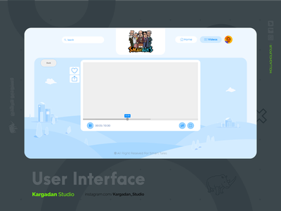 UI  Smart Tales Presentation video player vector art ui design uiux ui uidesign player play icon flat design