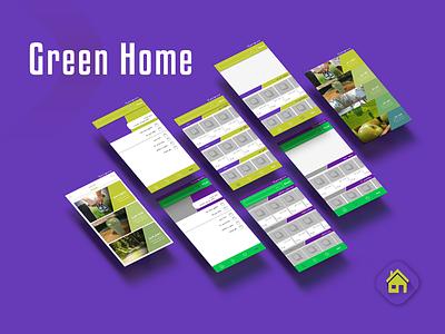 Green Home Application ui design branding ui  ux applicaiton ui  ux design app uidesign ui