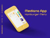 Ux Ui Presentation Up Hamburger Menu Mediana App