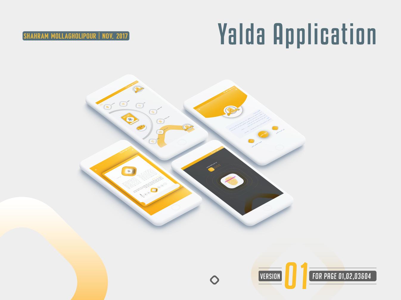 Ui Application Yalda design app uiuxdesign uidesign flat application app uiux ui