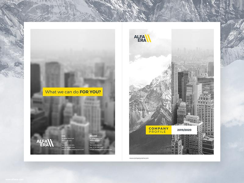 Company Profile Template Cover Process Alfaera Unsplash Coreldraw Print