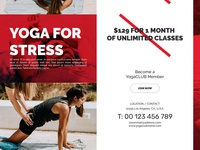 Tri-Fold Yoga Template CorelDraw