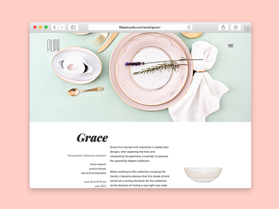 Grace Porcelain Set semplice product design mint product styling styling rose gold rose quartz portfolio layout porcelain grace