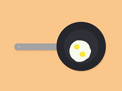 Since the FDA retracted their statement on cholesterol... eggs frying pan vector illustration