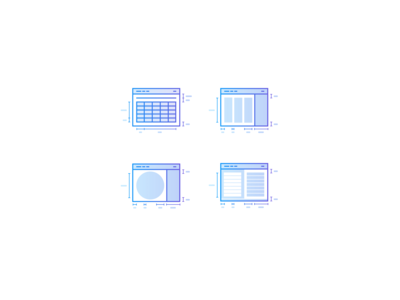 Set of custom icons designed for my recent project