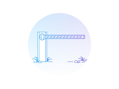Empty states illustrations empty states not authorized permission placeholder error 403 no access access closed lifting gate obstacle barrier gate arm not allowed forbidden stop gradient outline empty state illustration