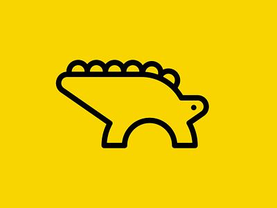 Stegosaurus stegosaurus minimal graphic reptile branding symbol mark logotype minimalistic icon logo negative space flat design 2d prehistory vector dinosaurs dinosaur dino