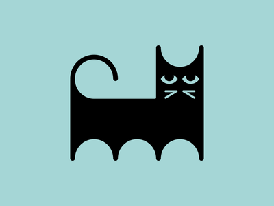 Magic cat mysterious magic illustration minimal wildlife animal cat graphic branding symbol mark minimalistic logotype icon logo negative space vector flat design 2d